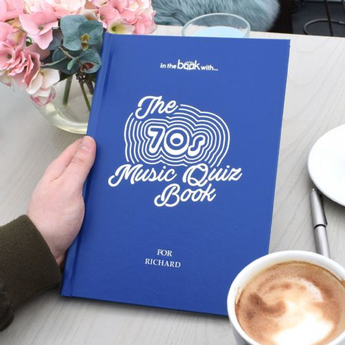 Personalised 1970s Music Quiz Book